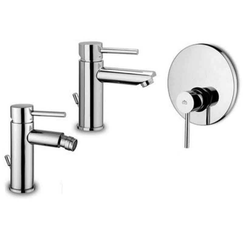 Paffoni Stick miscelatore lavabo c/scarico, bidet c/scarico e doccia
