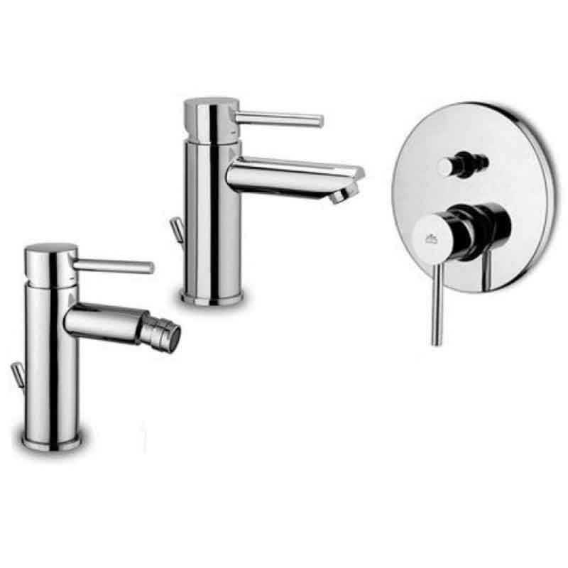 Paffoni Stick miscelatore lavabo c/scarico, bidet c/scarico e doccia con deviatore