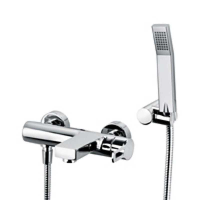 Miscelatore vasca Paffoni Ringo con set doccia e supporto a muro snodato