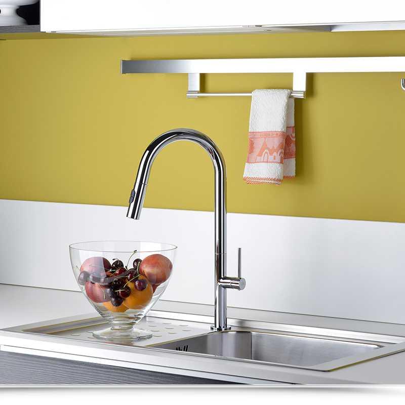Miscelatore Cucina con doccia estraibile Paffoni Chef CH185CR