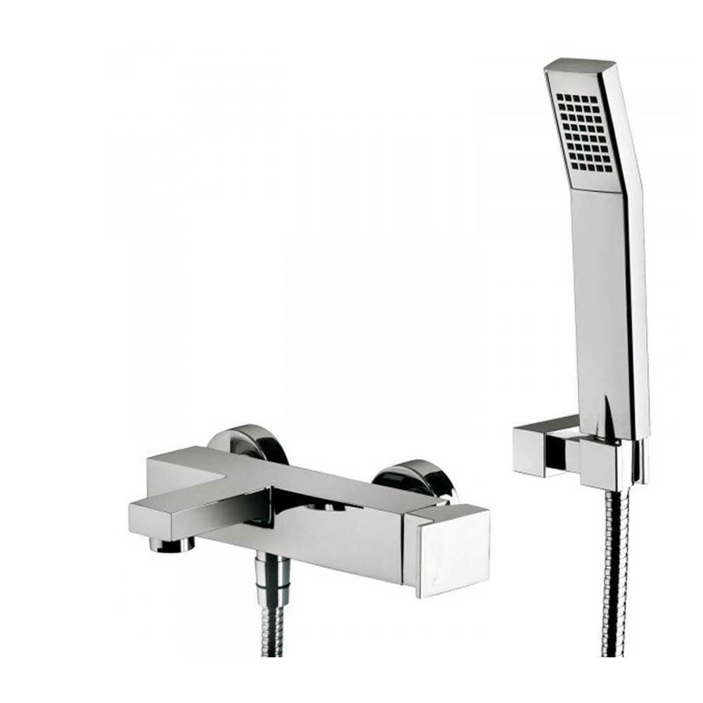 Miscelatore vasca Paffoni Elle art. EL023CR completo di set doccia