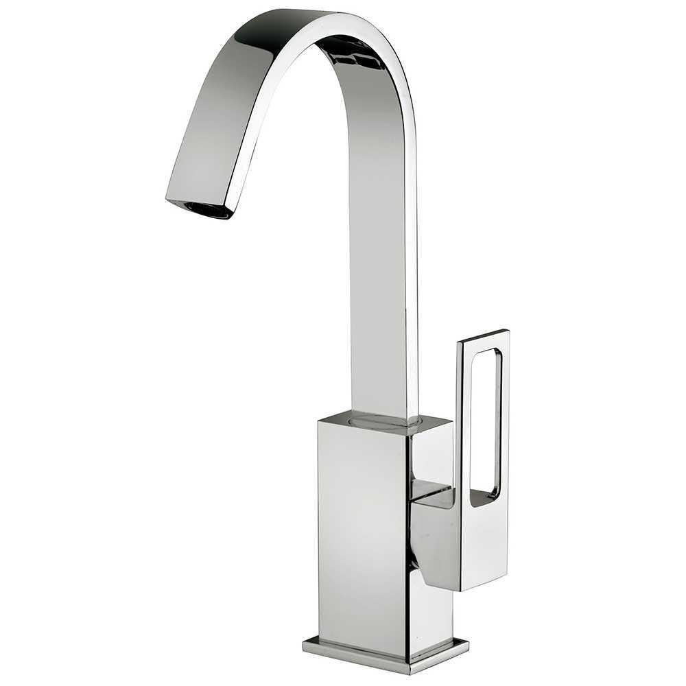 Miscelatore lavabo Paffoni Effe con canna orientabile e scarico