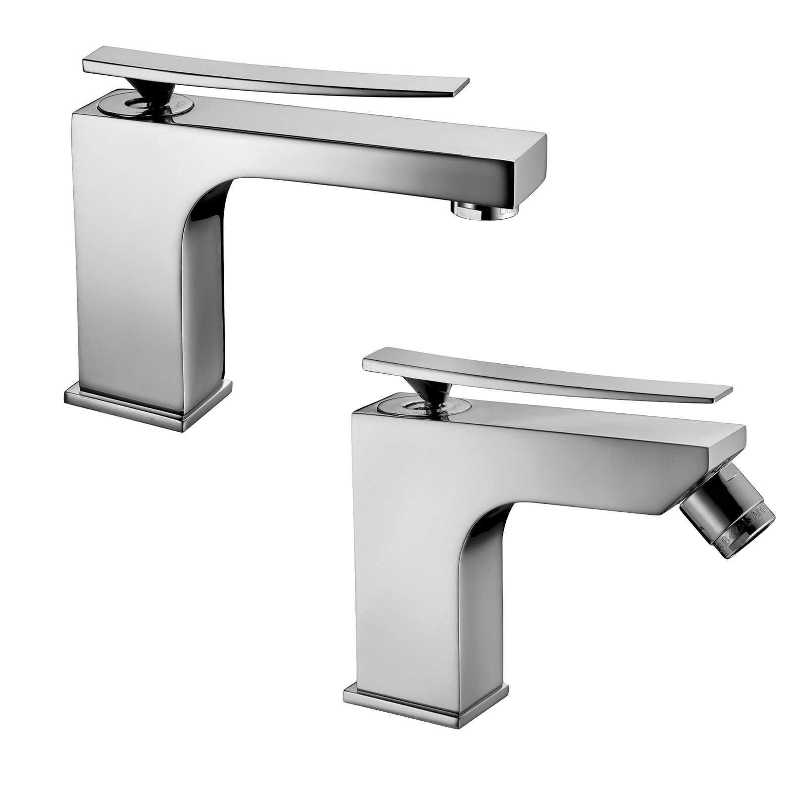 Set di miscelatori lavabo e bidet paffoni Elys ELY075CR + ELY135CR