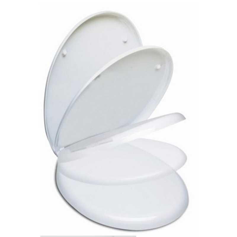 Sedile wc mascalzone con chiusura rallentata realizzato in termoindurente