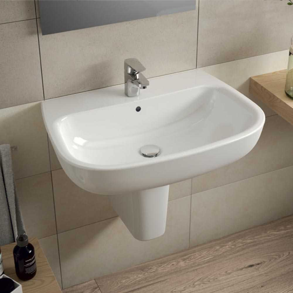 Lavabo Con Vasca Da Bagno.Lavabo Da Bagno Sospeso Con Vasca Capiente Ideal Standard Esedra Cm 60 Con Semicolonna