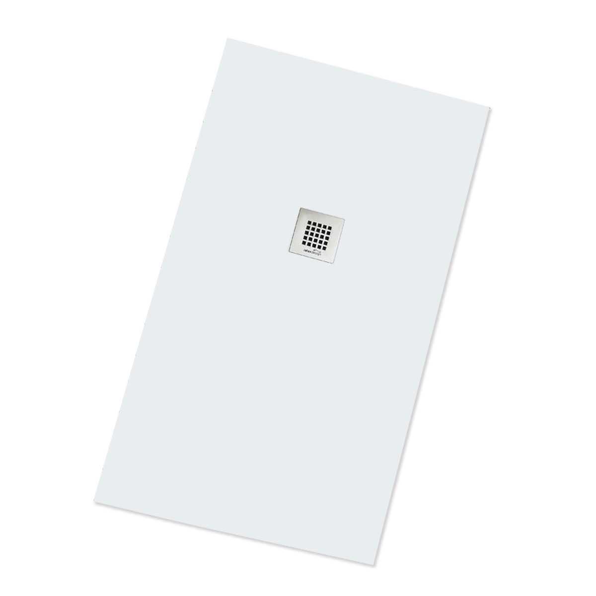 Piatto doccia ultrapiatto 70x120 colorato realizzato in solid surface con griglia inox  Rocky Solid