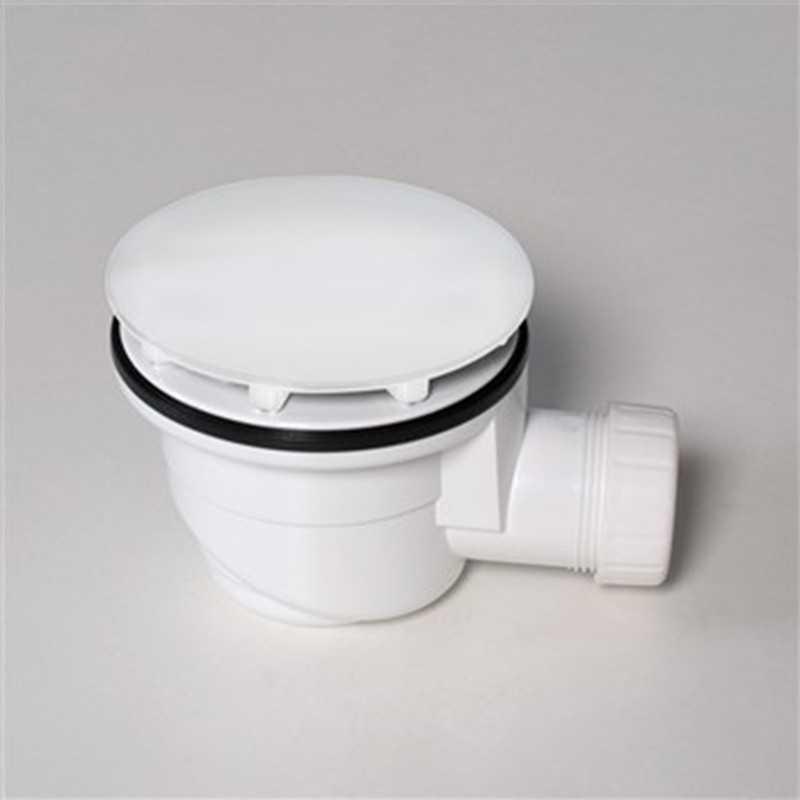 Piletta di scarico sifonata SILFRA AD300 Bianca per piatti doccia diametro 90