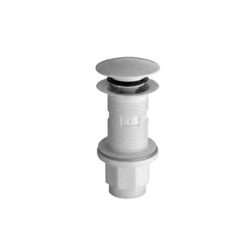 Piletta di scarico per lavabi con sistema Click Clac SILFRA tappo bianco in ABS