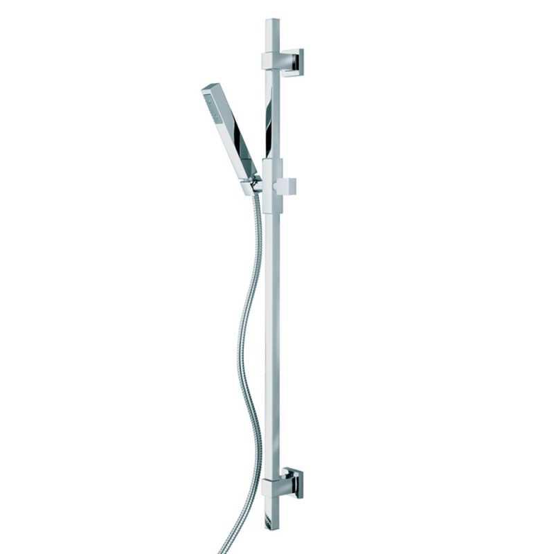 Bossini set doccia saliscendi squadrato con doccetta Cube D91001