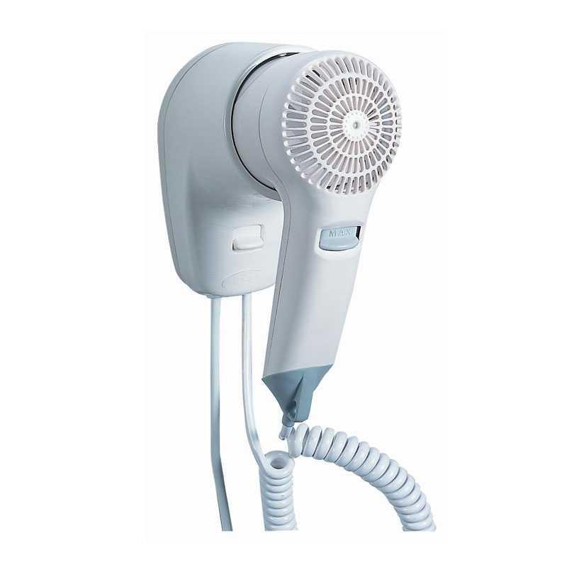 Asciugacapelli elettrico ad uso alberghiero con pulsante a rilascio mod. 2-VIENTO/1 - VAMA