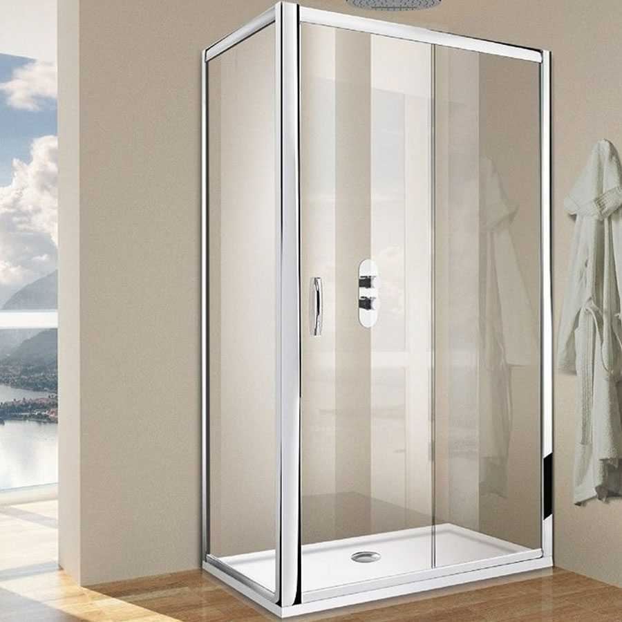 Porta doccia scorrevole per nicchia da 100 cm cristallo trasparente 6 mm