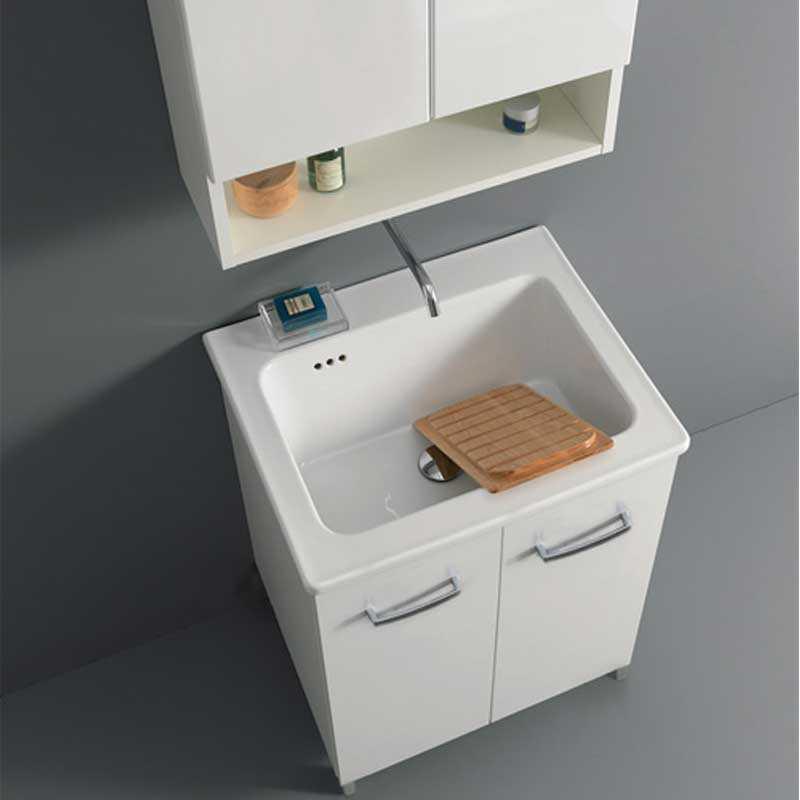 Lavatoio Lavarredo Xilon Nanco cm 60x60 colore Bianco lucido  Cod. 2266