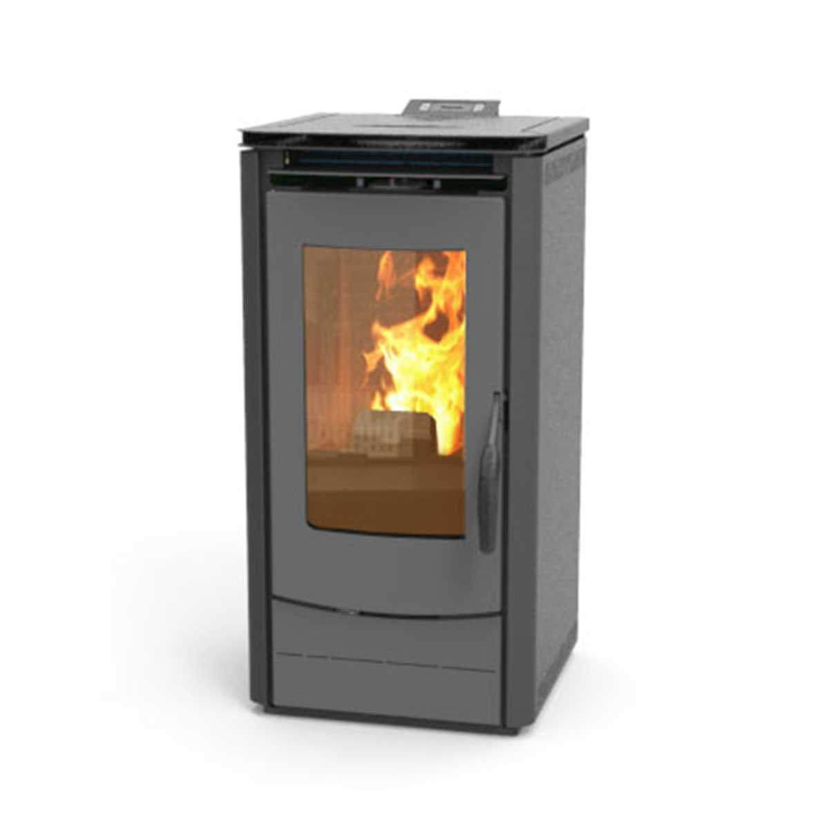 Stufa a pellet grigio antracite Thermossi 1000 Easy da 7,5 kW classe A+