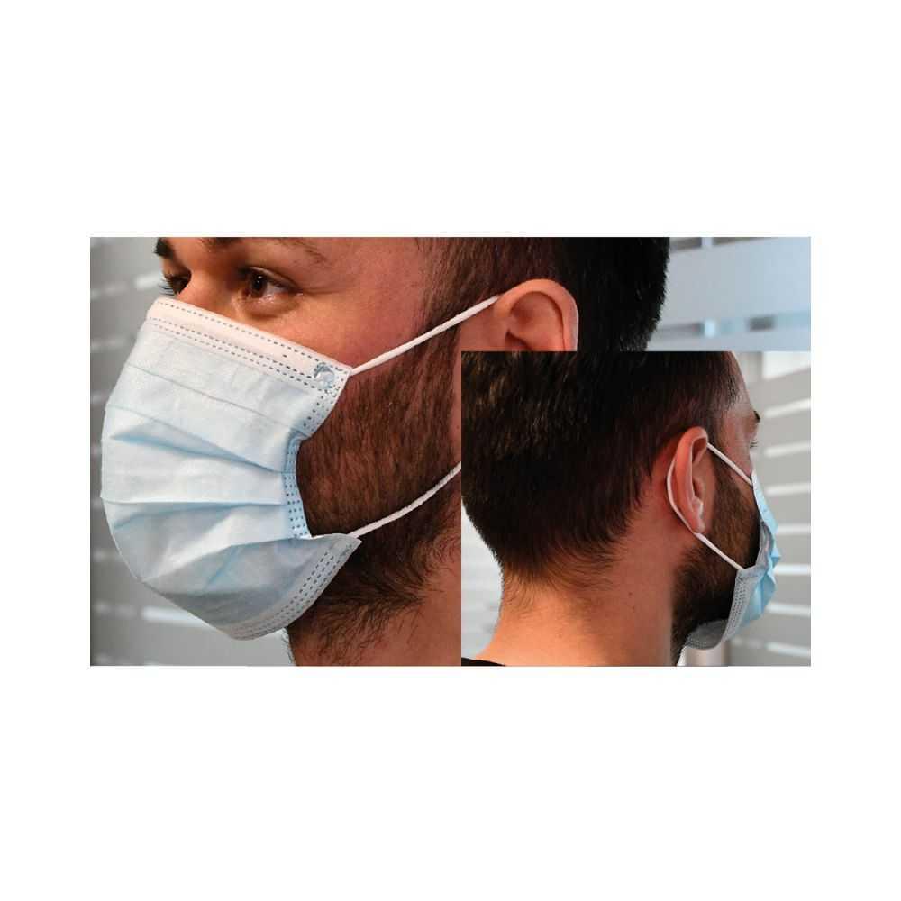 Mascherina igienica protettiva bordatura stampata 'Filtrante' cm 17,5 x 9,5