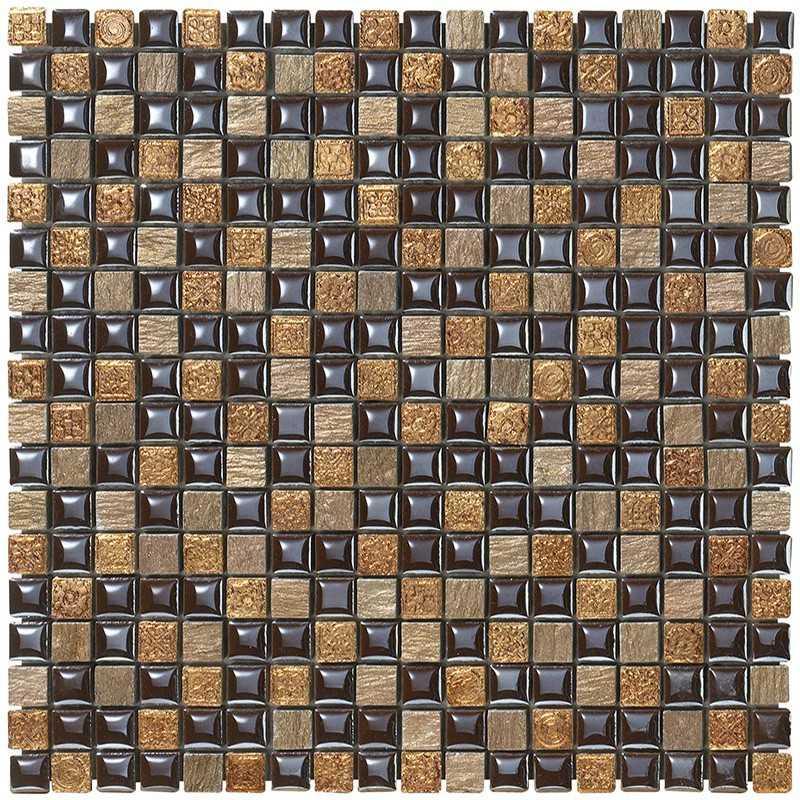 Mosaico da Bagno in fogli 30x30 Boxer Mexical Amaranto