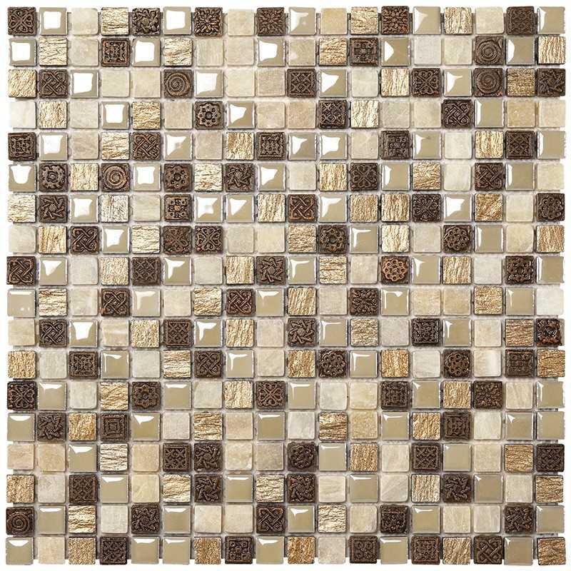 Mosaico da Bagno in fogli 30x30 Boxer Mexical Modern Ambra