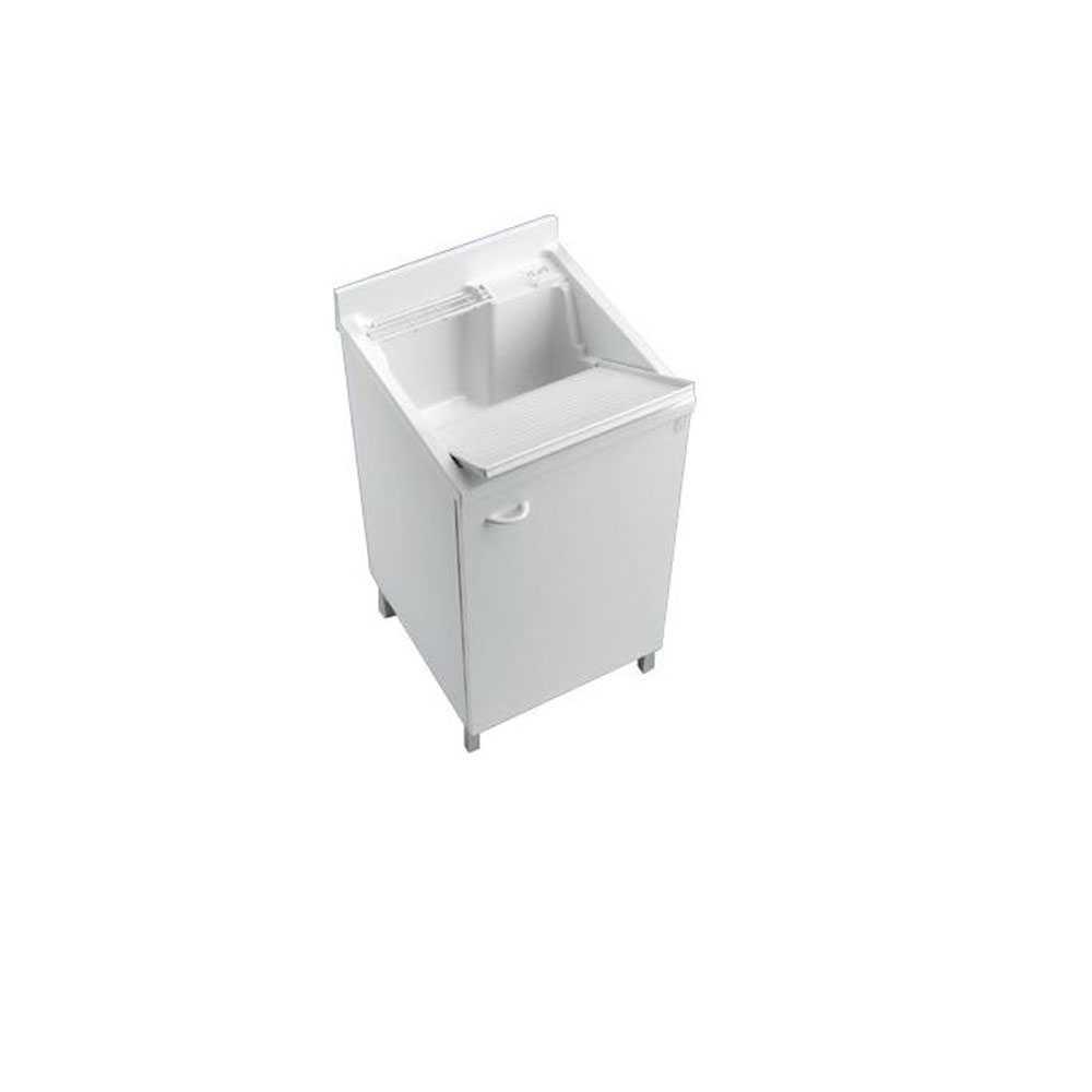 Lavatoio lavapanni 45X50 bianco con asse lavapanni per lavanderia