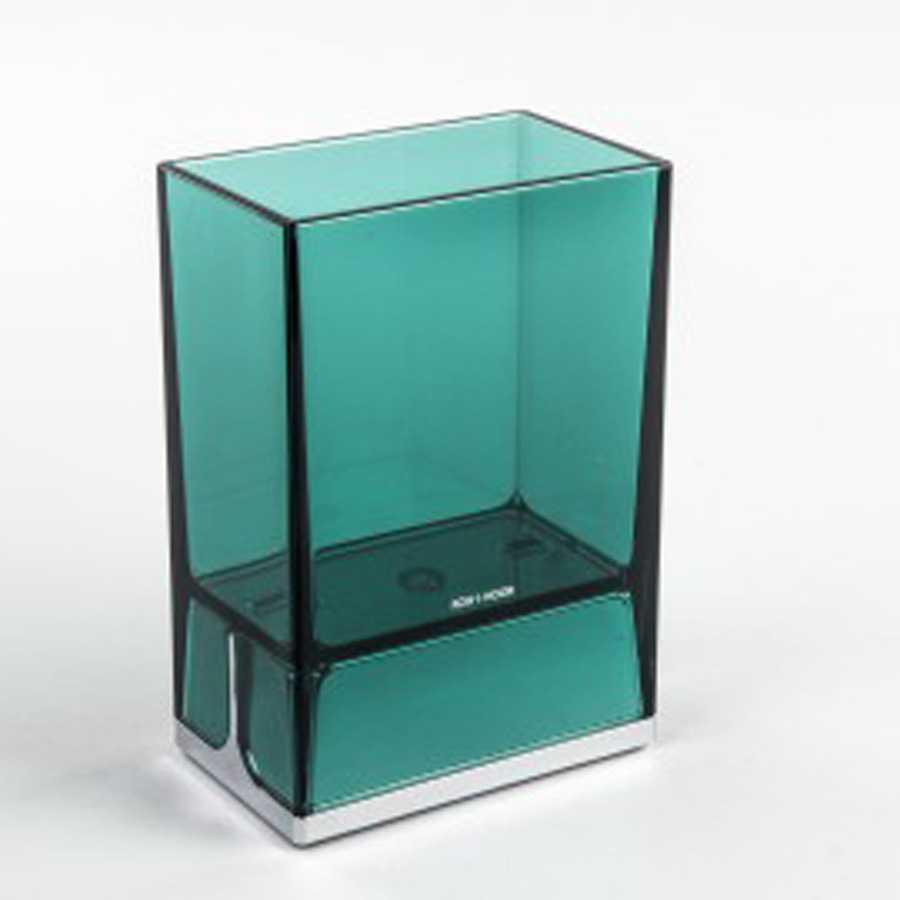 Bicchiere portaspazzolini da appoggio in policarbonato Koh-i-Noor LEM colore verde