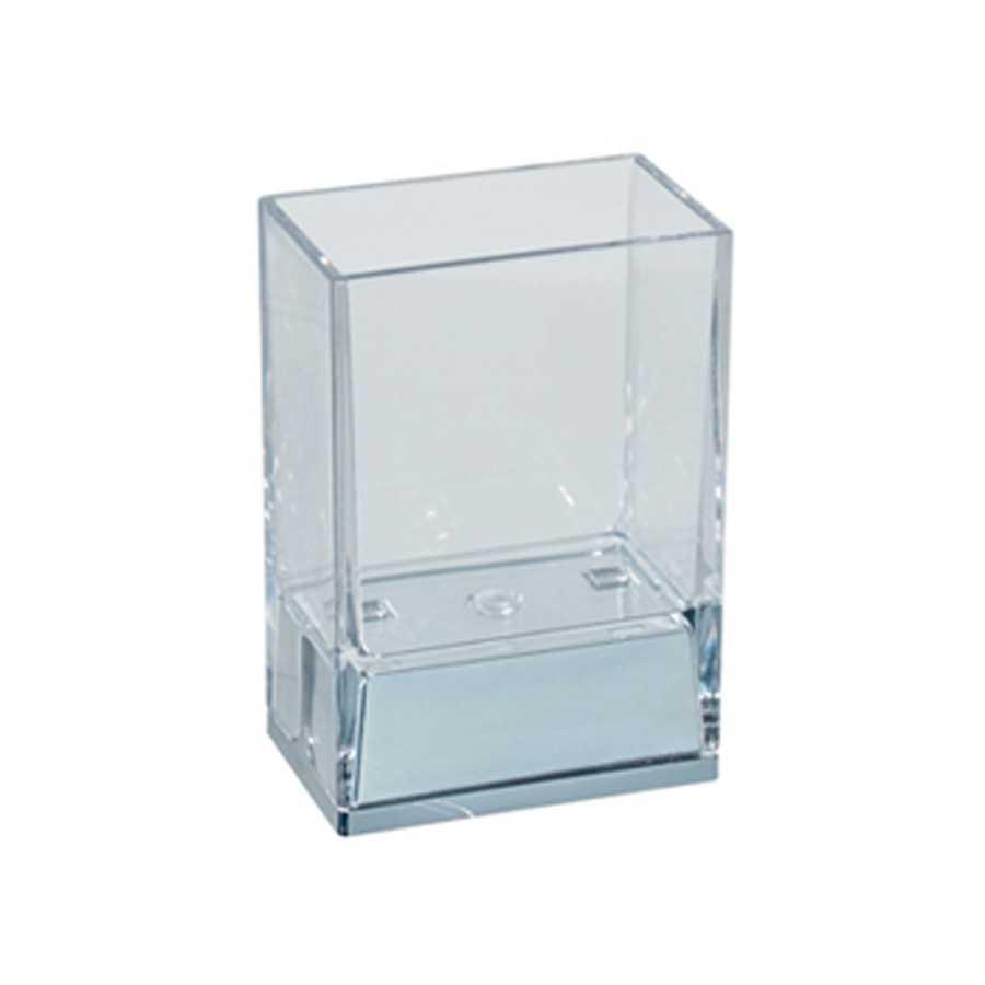 Bicchiere portaspazzolini da appoggio in policarbonato Koh-i-Noor LEM colore trasparente