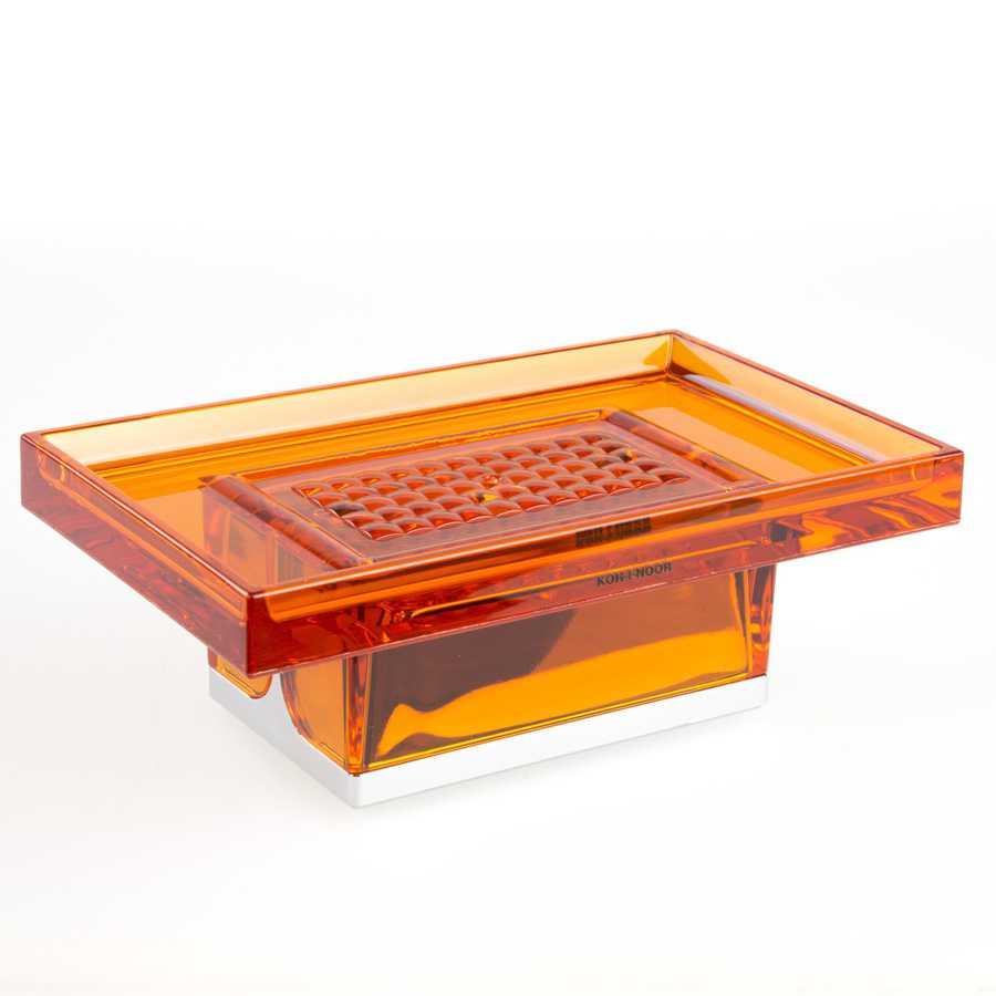 Portasapone da appoggio in policarbonato Koh-i-Noor LEM colore arancione