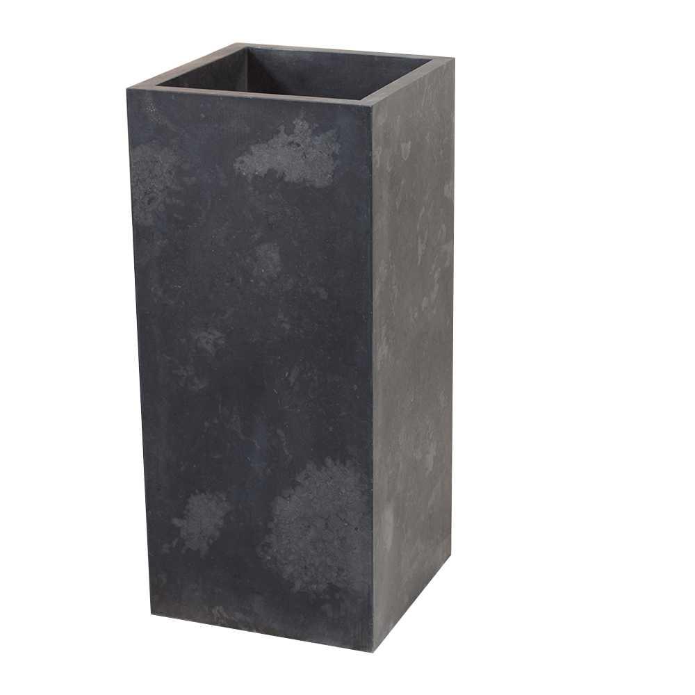 Lavabo freestanding in Marmo Cubo Nero alto 90 cm diametro 40 cm