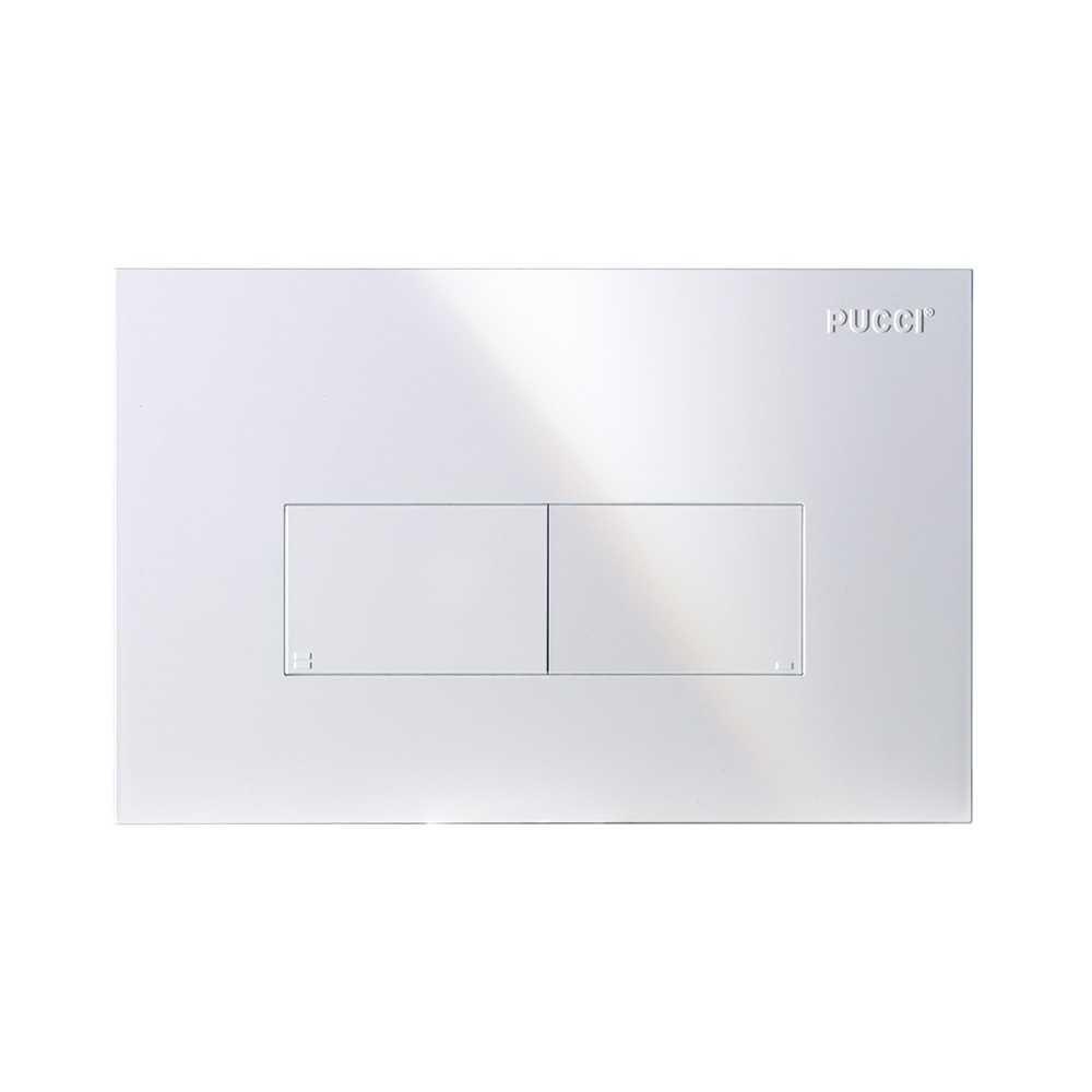 Placca per cassetta incasso pucci eco 2 pulsanti modello Linea Bianca