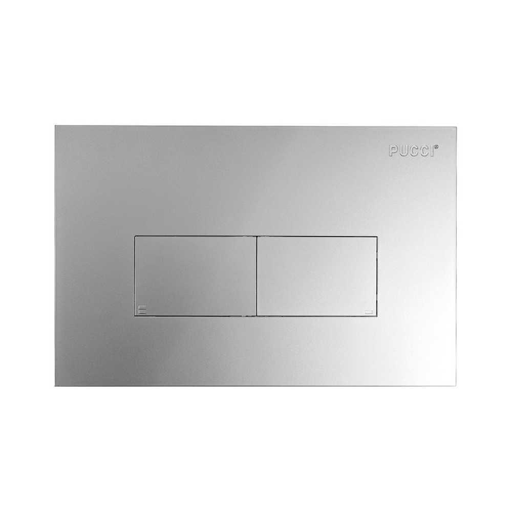 Placca per cassetta incasso Pucci modello Eco 2 pulsanti Linea Cromo Satinato