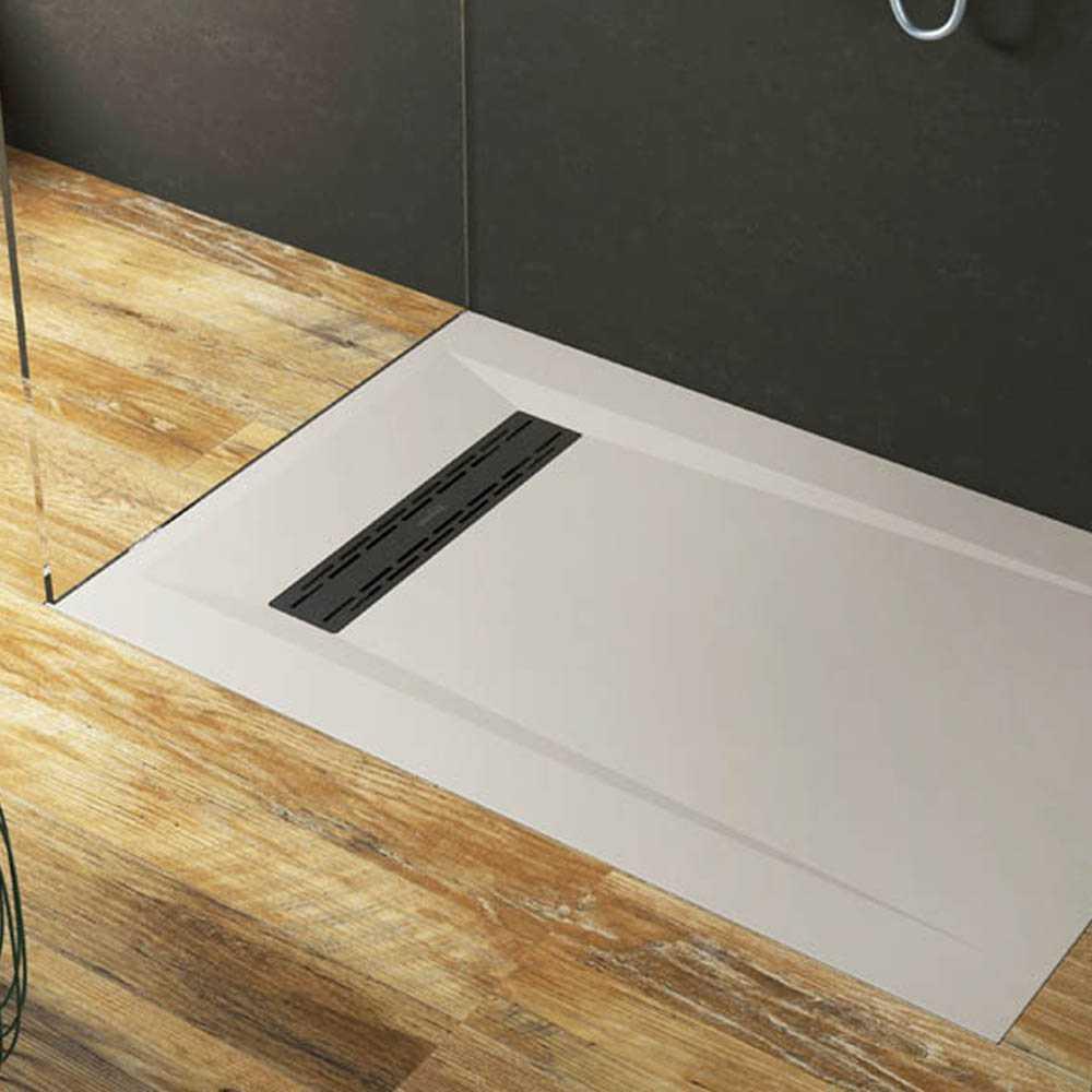 Piatto Doccia Riverside filo pavimento 70x110 h 3 cm colorato opaco in luxolid