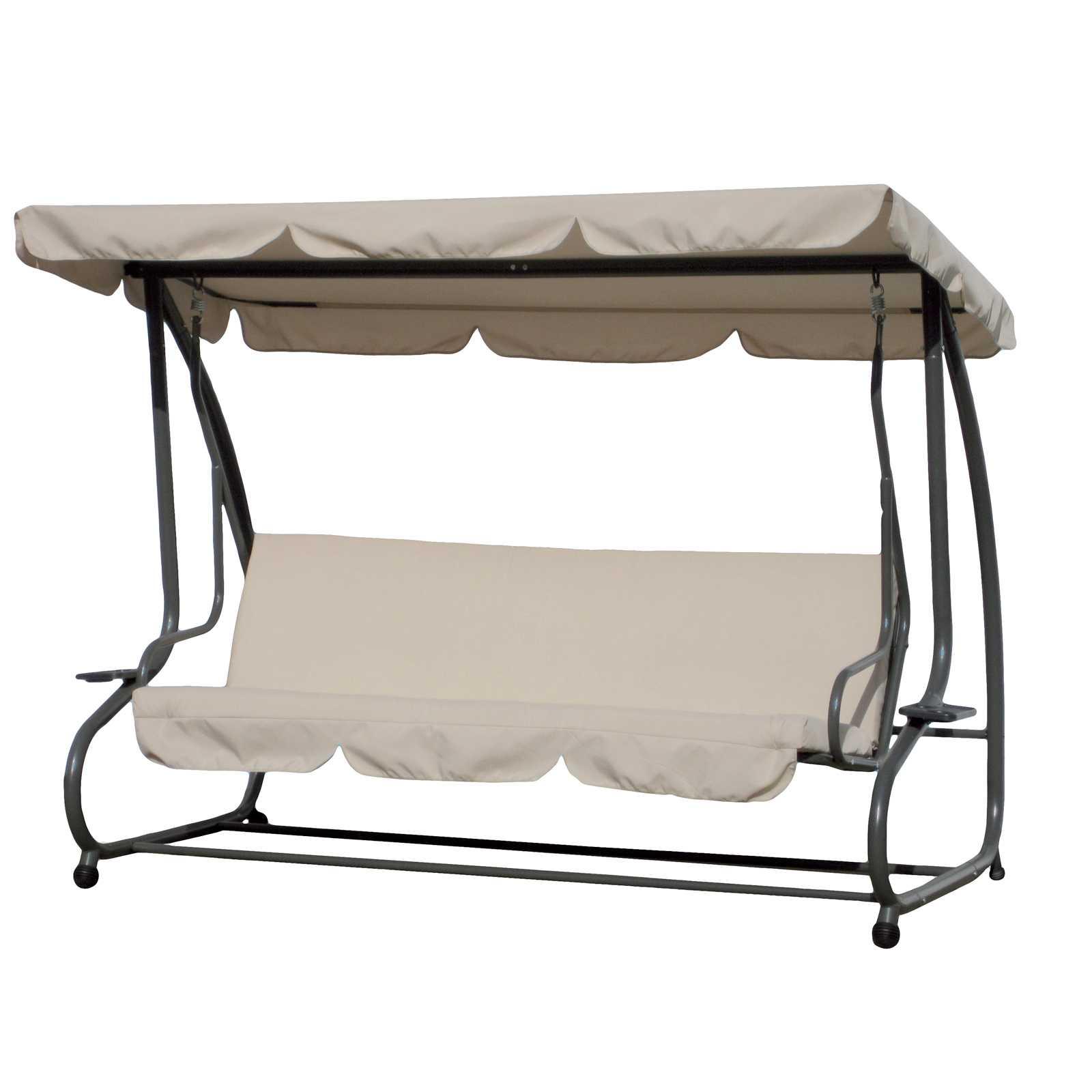 Dondolo Sofa in acciaio verniciato panna con sgancio rapido per trasformazione a letto