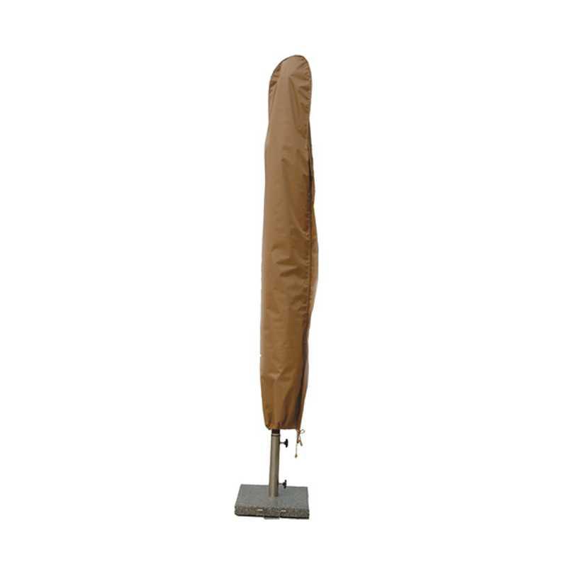 Custodia a sacchetto marrone chiaro per ombrellone con pratico laccetto