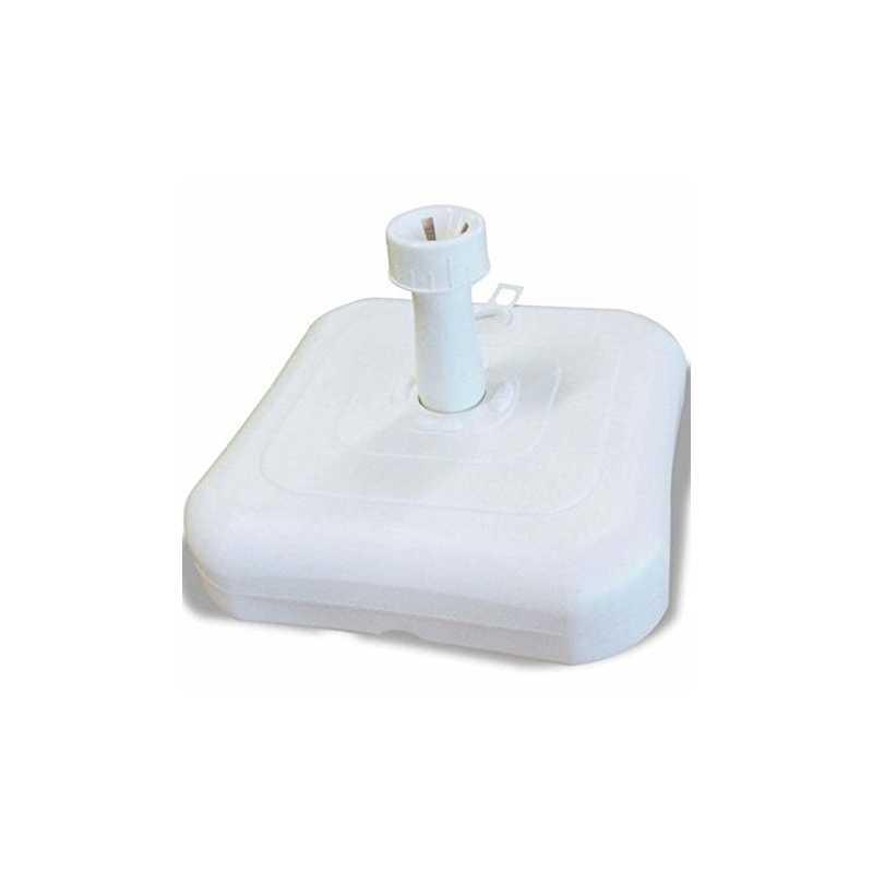 Base ombrellone in pvc bianco 60x60 cm a riempimento d'acqua