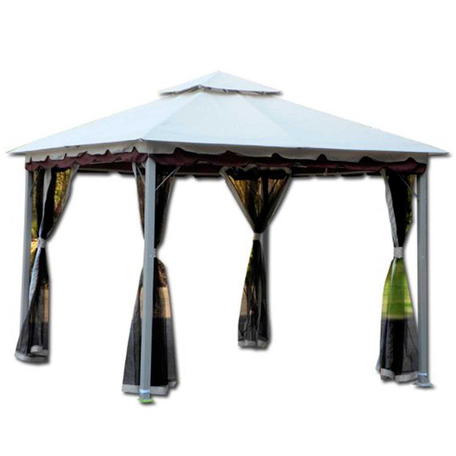 Gazebo Smeralda in allumino verniciato 300x300x270h con top poliestere bianco