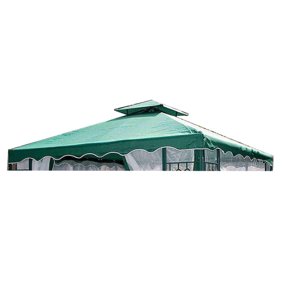 Top verde 300x300 in poliestere spalmato in pvc ideale come ricambio per gazebi