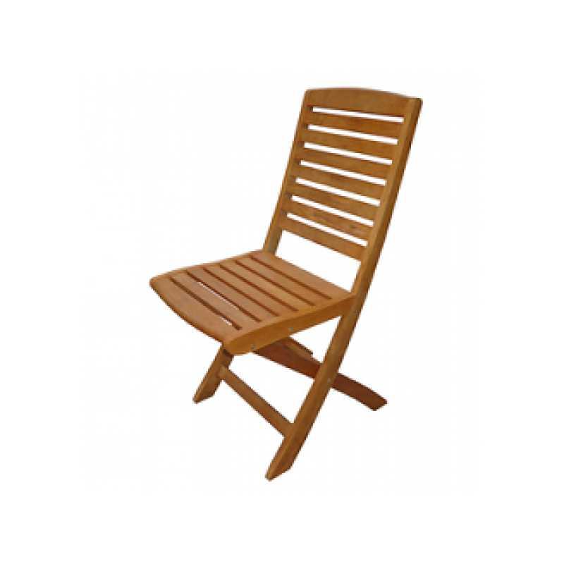 Sedia pieghevole Ischia 40x42x90h con truttura interamente in legno