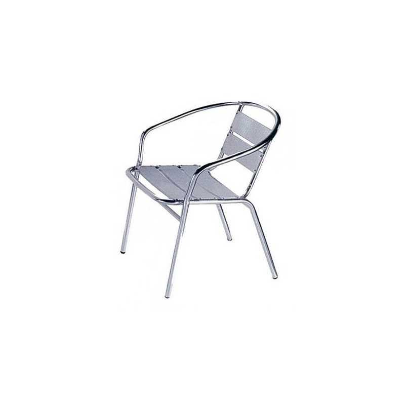 Poltrona outdoor 56x55x74h struttura in alluminio