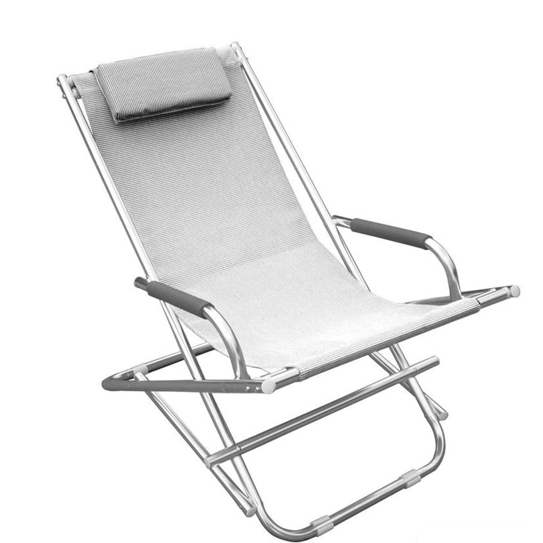 Sdraio Magnum collezione Playa in alluminio tubolare satinato e textilene bianco