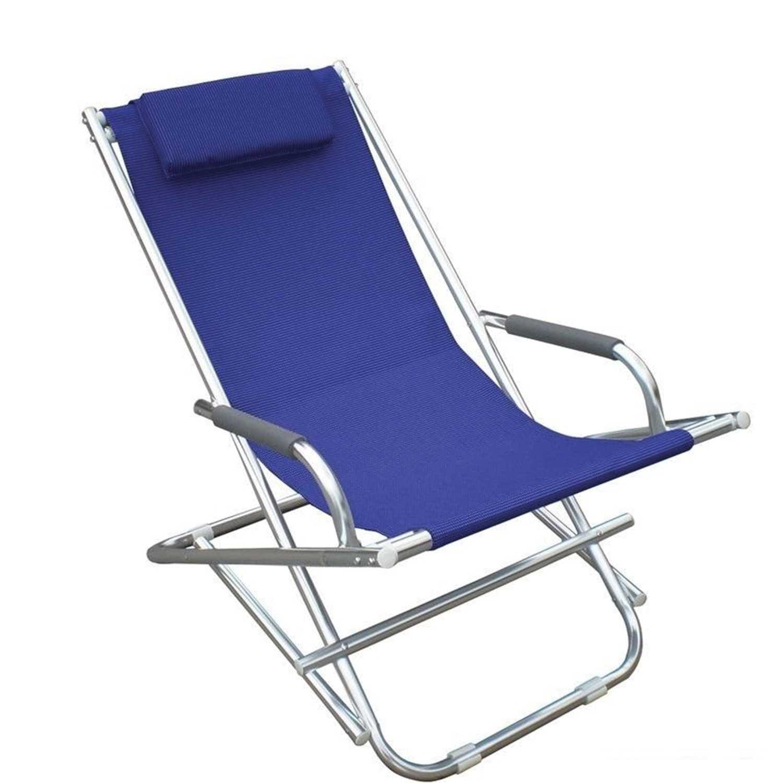 Sdraio Magnum serie Playa in alluminio satinato e textilene blu