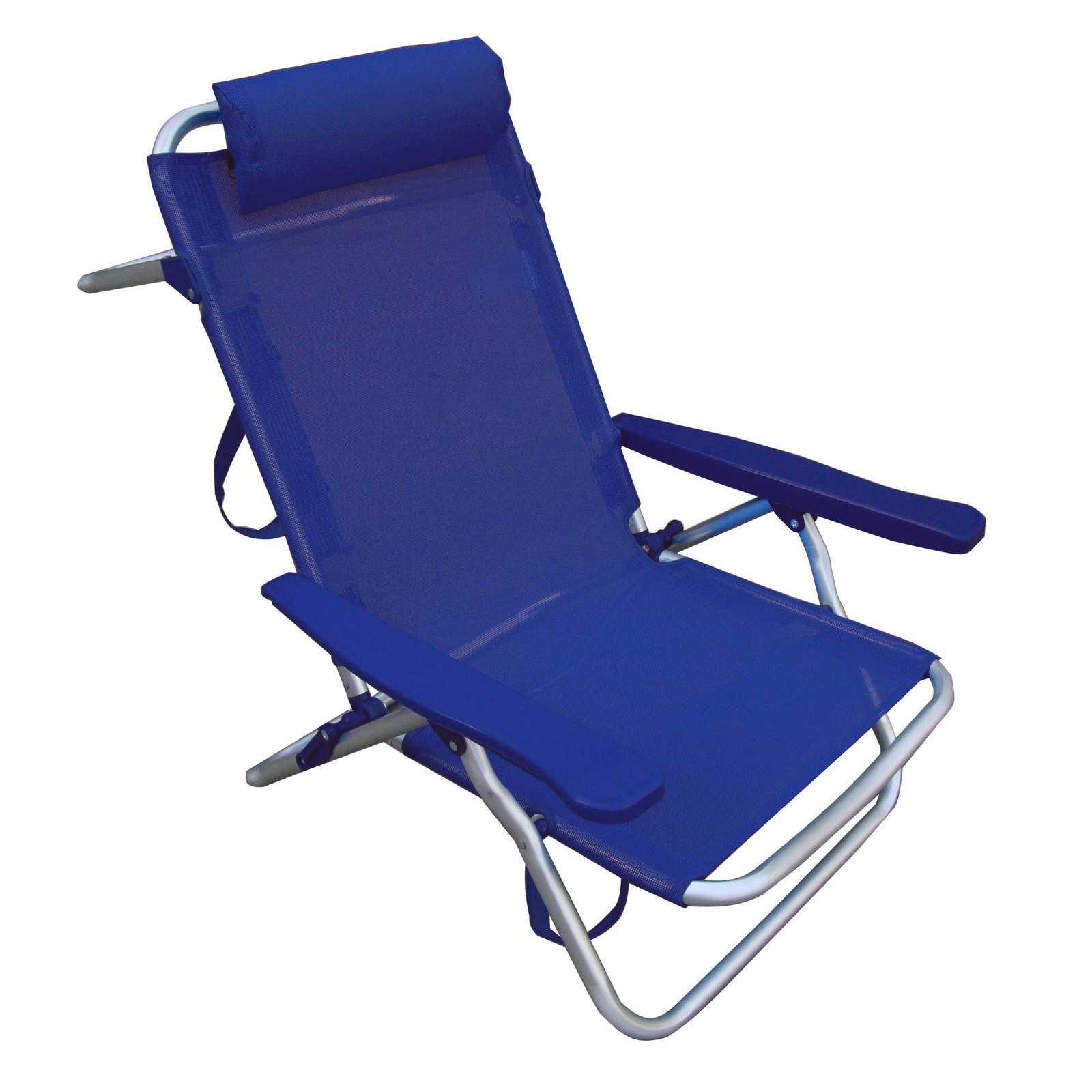 Spiaggina blu reclinabile 53x62x77h  in tubolare di alluminio