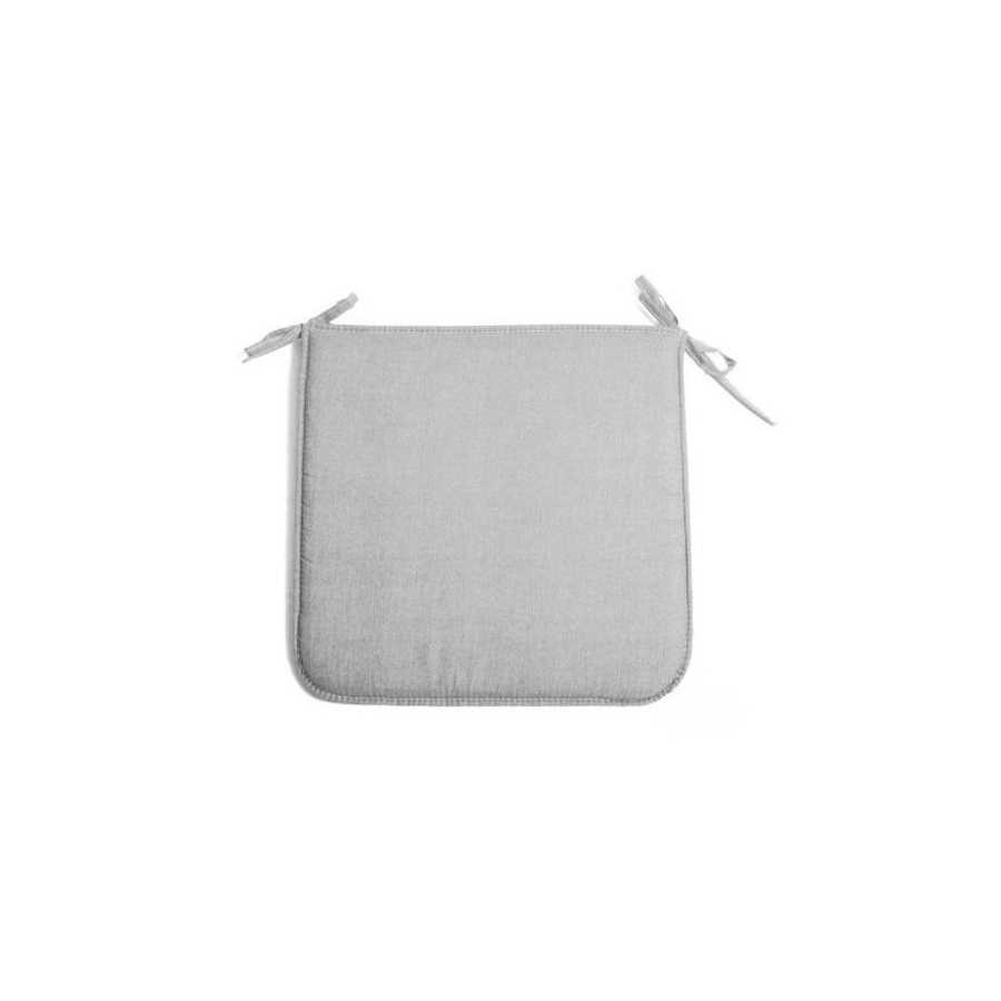 Cuscino per sedie grigio 39x39 cm modello Panarea spessore di soli 2 cm