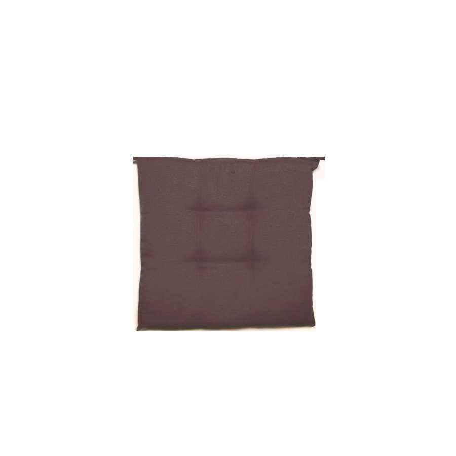 Cuscino per sedie Creta 38x41 cm colore marrone con spessore a 5 cm