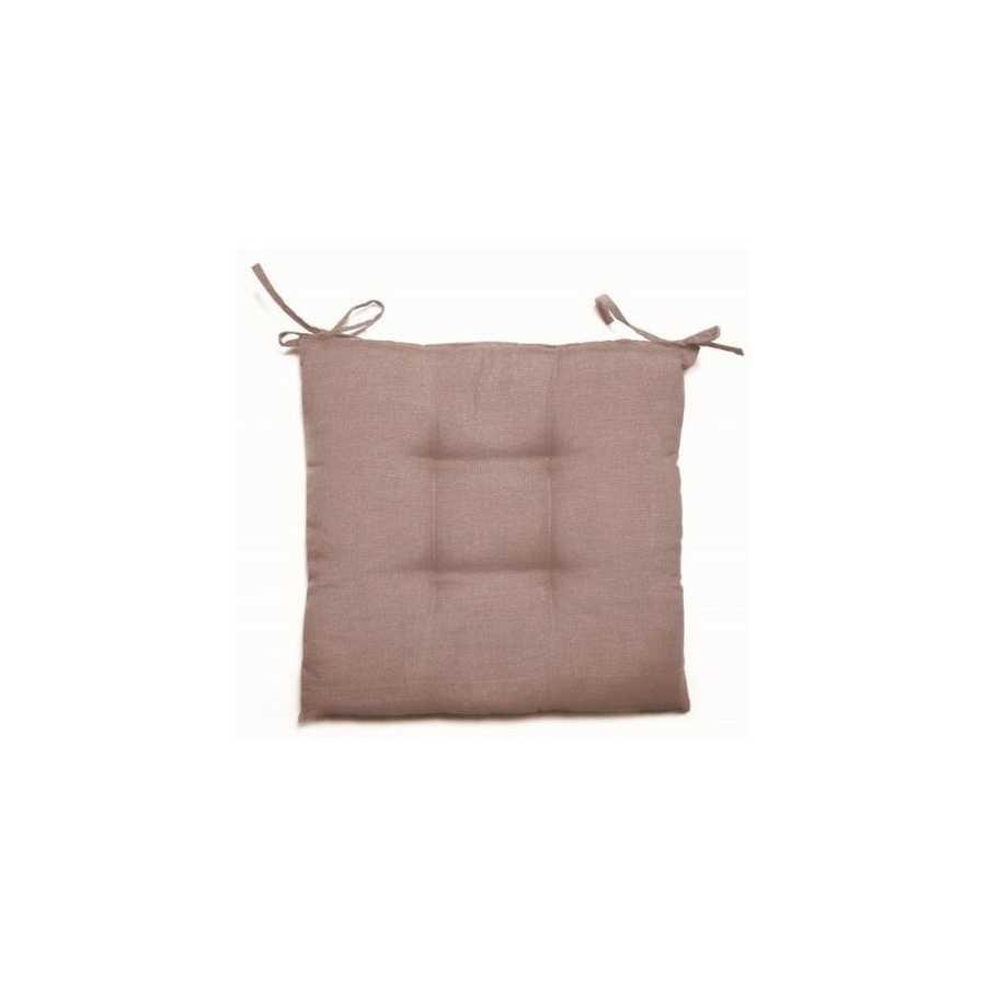 Cuscino per sedie Creta 38x41 cm colore tortora e spessore 5 cm