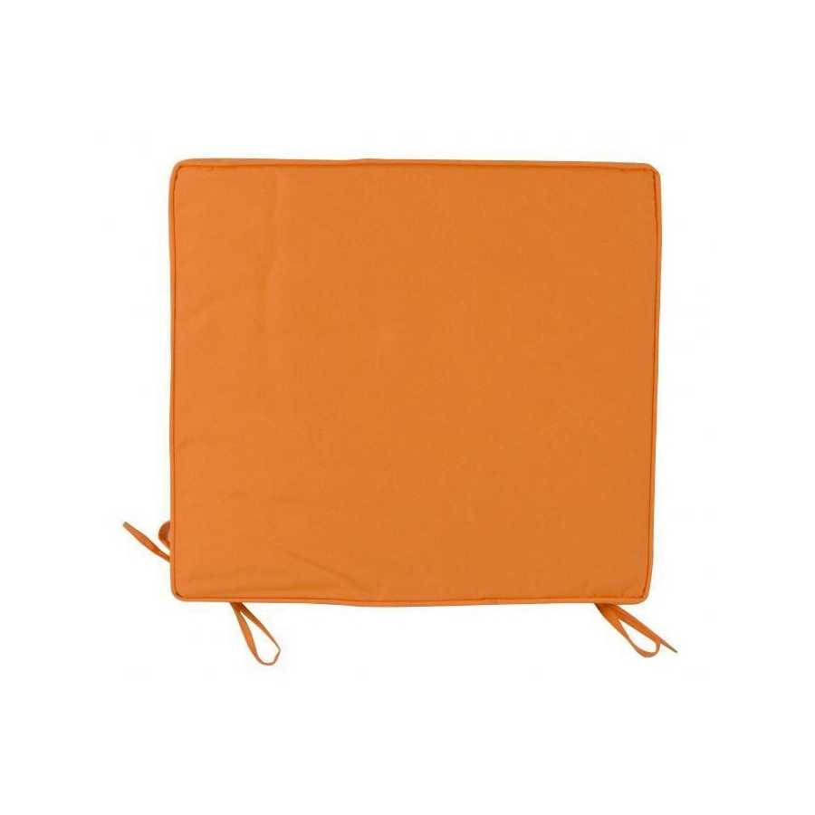 Cuscino 38x41 cm per sedie colore arancione con spessore 5 cm