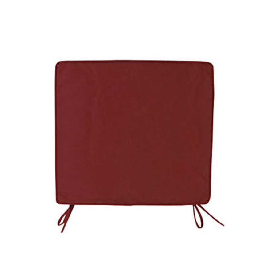 Cuscino per sedie colore bordeaux con spessore di 5 cm