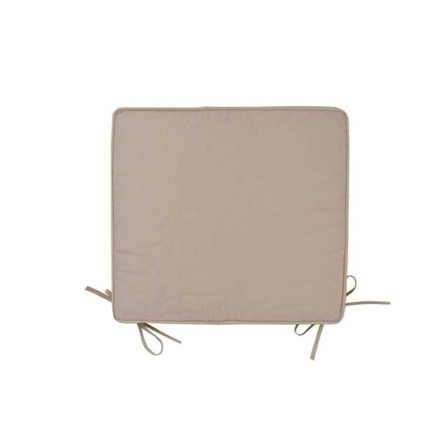 Cuscino per sedie colore ecrù con spessore di 5 cm