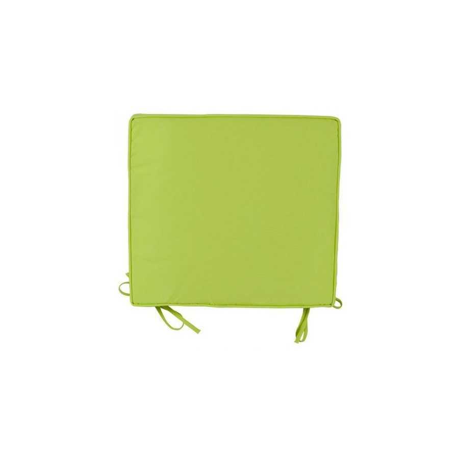 Cuscino per sedie 38x41 cm colore verde mela spessore 5 cm