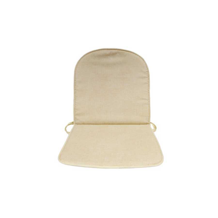 Cuscino Double beige con schienale imbottitura spessa a 2 cm
