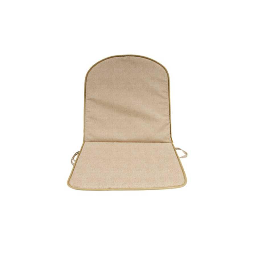 Cuscino Double tortora con schienale e spessore di 2 cm