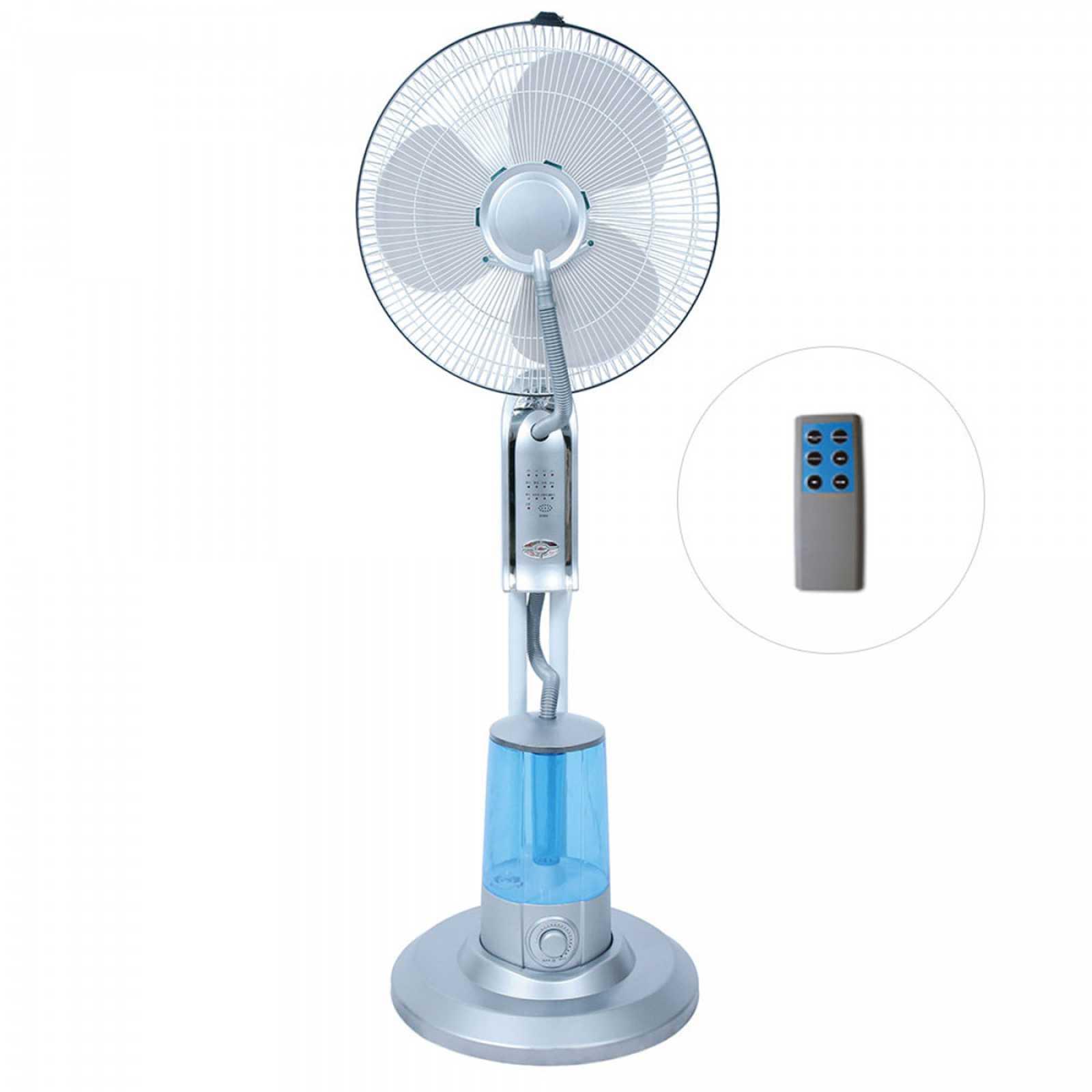 Ventilatore nebulizzatore con telecomando Rugiada 75 W struttura in abs e acciaio