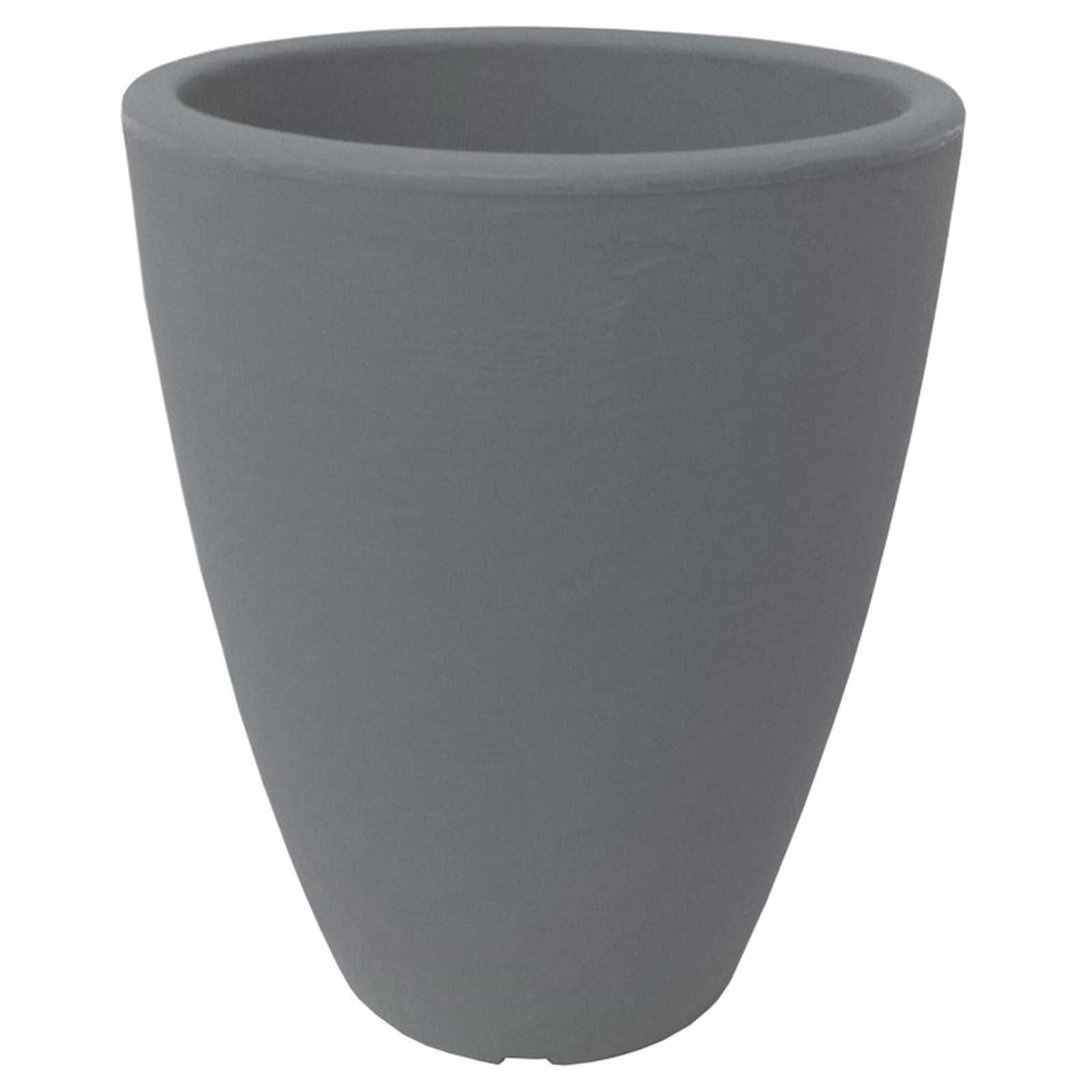 Vaso in resina colore pietra modello Adone con finitura anticata
