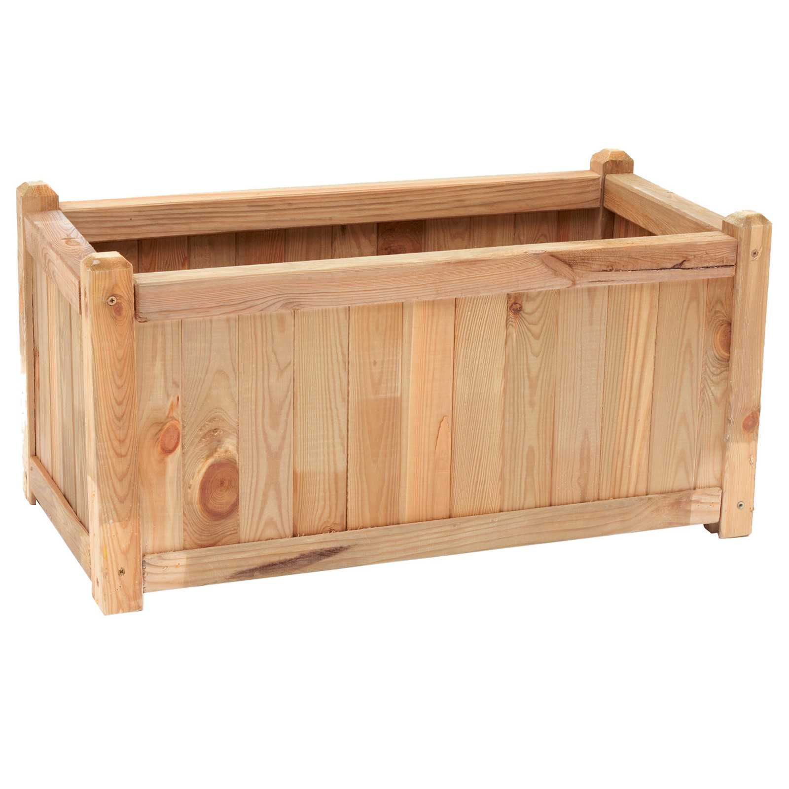Cassetta in legno di pino impregnato cm 80x40x40h ideale per piante e fiori - vasi e fioriere